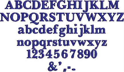 this font is used for small lettering we great